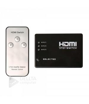 3Port HDMI Switch, 3 Порты и разъёмы 1080 P HDMI коммутатор видео переключатель hdmi splitter ИК пульт