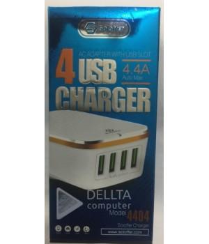 Сетевое зарядное устройство 4 USB   4.4A   4404