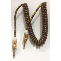 AUX кабель,3.5 спираль soloffer solo-L17,aux 1,8m