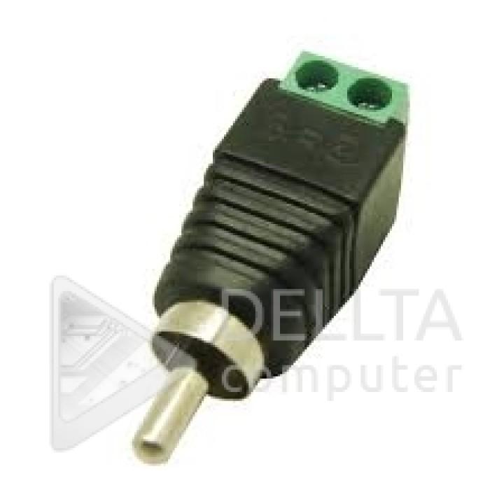 Переходник-штекер TS RCA M с клеммной колодкой