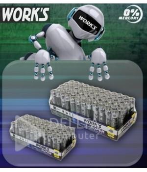 Батарейки WORKS R06 солевая