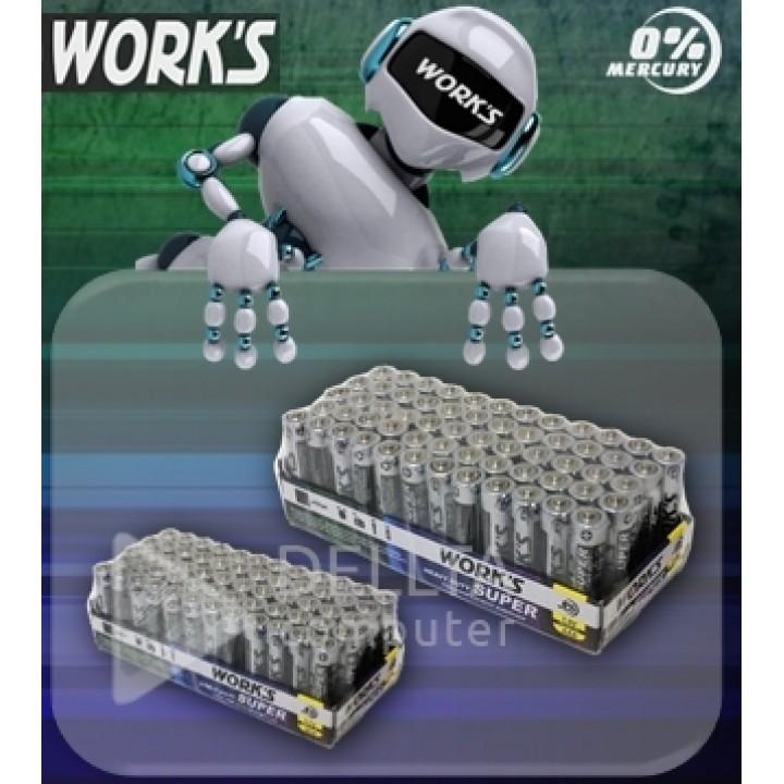 Батарейка WORKS R06 солевая
