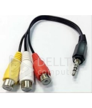 Кабель 3.5mm Mini AV Male to 3rca Female M/f Audio Video Cable Stereo Jack Adapter Cord