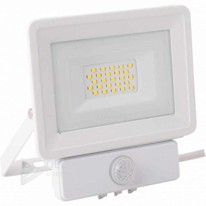 Videx прожектор 20W 5000K 220V (VL-Fe205W) сенсорный ,белый с датчиком движения