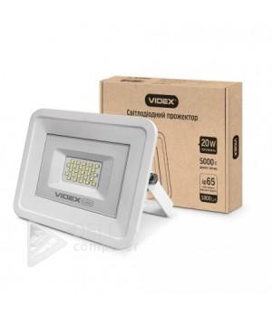 Videx прожектор 20W 5000K 220V (VL-Fe205W) ,белый