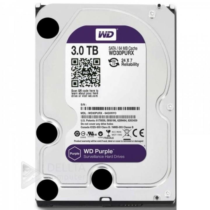 Жесткий диск Western Digital Purple 3TB 64MB 5400rpm WD30PURX 3.5 SATA III