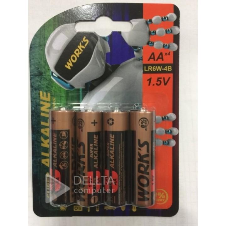 Батарейки Works LR06 (на блистере 4 шт)