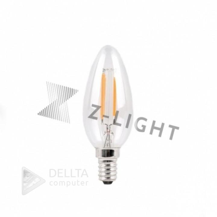 Светодиодная лампа Z-Light 5W,FILAMENT,свечка,E14,400lm