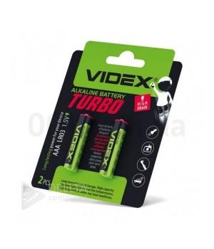 Батарейка Videx Turbo Alkaline LR03 (AАА)