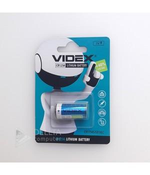 Батарейка литиевая Videx  CR123А Lithium, 3.0 V (для фотоаппаратов)