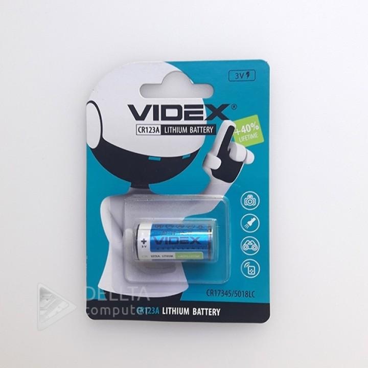 Батарейка Videx  CR123А Lithium 3.0 V (для фотоаппаратов)
