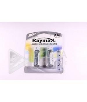 "Аккумуляторные батарейки  ""Raymax"", HR6- 800 mAh, ( блистер 2 батарейки)"