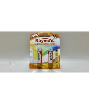 "Аккумуляторные батарейки  ""Raymax"", HR6- 1000 mAh, (блистер 2 батарейки)"