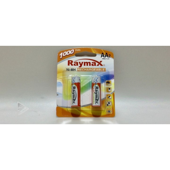 Аккумуляторная батарейка Raymax HR6- 1000 mAh (на блистере)