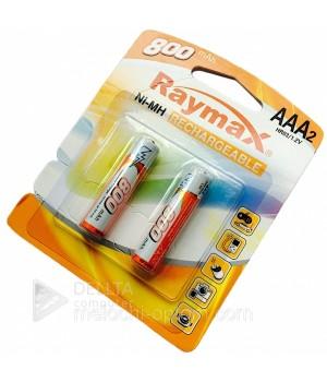 "Аккумуляторные батарейки  ""Raymax"", HR03- 800 mAh, (блистер 2 батарейки)"
