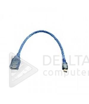 Кабель USB mini usb (USB 2.0 AM/5p)  0.3m  blue