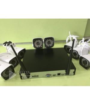 Комплект видеонаблюдения Fosvision FS-6022W20-8CH на 8 камер WI FI