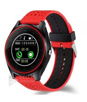 Умные часы-телефон Smart Watch V9 красно-черные