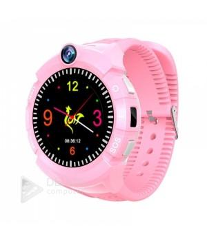 Детские часы с gps трекером +camera S02 Pink