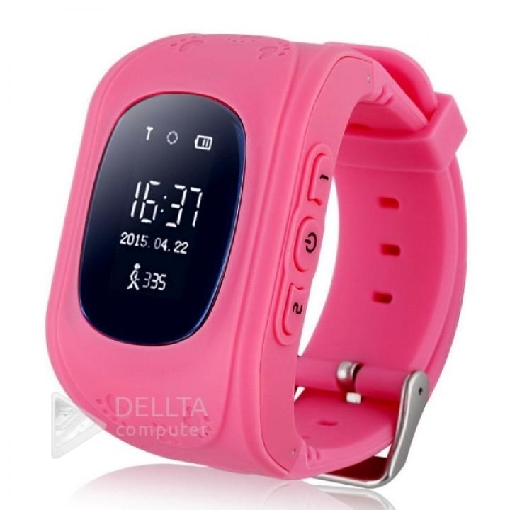Smart часы детские Q50 розовые