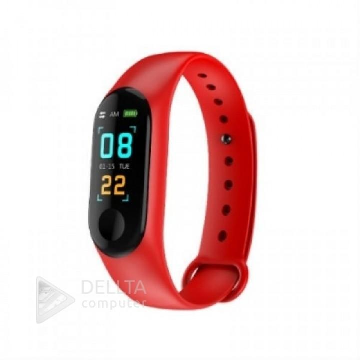 Фитнес-браслет v3 Plus: Xiaomi Mi Band 3 красные