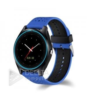 Умные часы-телефон Smart Watch V9 сине-черные