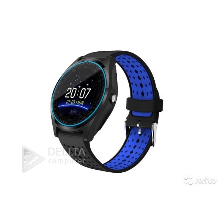 Умные часы-телефон Smart Watch V9 черно-синие