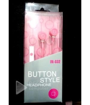 Наушники c микрофоном IN-032 розовые