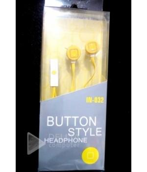 Наушники c микрофоном IN-032 желтые
