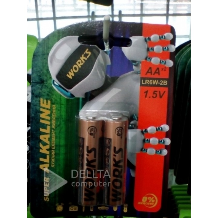Батарейка Works LR06 alkaline (на блистере)