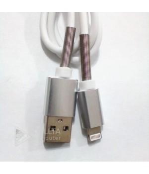Lighting USB Кабель iphone (Half Spring) с пружинкой белый