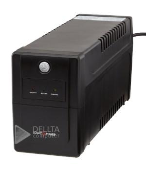 ИБП LPM-700VA-P, 2 евророзетки, 3 ступ. AVR, 9Ач12В. Пластиковый корпус, цвет черный.LP3172
