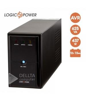 ИБП LPM-U625VA, USB порт, 2 евророзетки, 3 ступ. AVR, 7.5Ач12В.Металлический корпус, цвет черный.