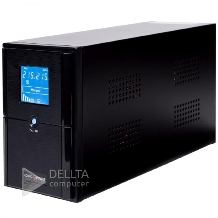 ИБП LPM-UL625VA, USB-порт, LCD дисплей, 2 евророзетки, 3 ступ. AVR, 7.5Ач12В. металлический корпус. Цвет черный LP4978