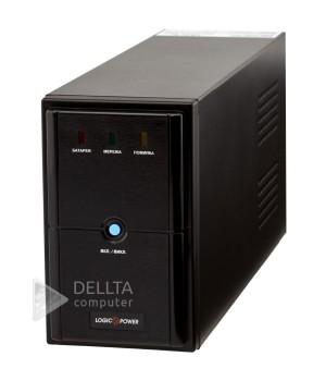 ИБП LPM-U1100VA, USB-порт, 3 евророзетки, 3 ступ. AVR, 2x7.5Ач12В, металлический корпус, Черный цвет LP4983