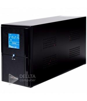 ИБП LPM-L1100VA, LCD дисплей, 3 евророзетки, 3 ступ. AVR, 2x7.5Ач12В, металлический корпус, Черный цвет LP4982