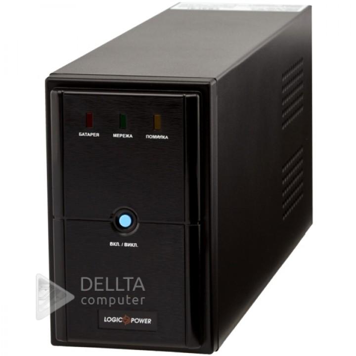 ИБП LPM-U1550VA, USB-порт, 3 евророзетки, 3 ступ. AVR, 2x9Ач12В, металлический корпус, Черный цвет LP4989