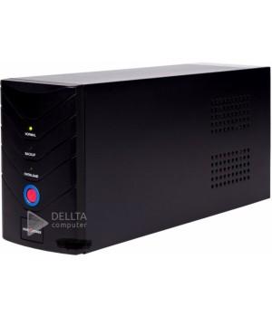 ИБП LogicPower 650VA, 2 евророзетки, 5 ступ. AVR, 7.5Ач12В, металлический корпус, Черный цвет LP1078