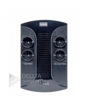 ИБП LP 850VA-PS 4 евророзетки, 5 ступ. AVR, 8Ач12В, пластиковый корпус, Черный цвет LP2416