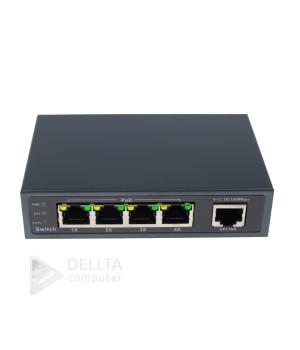 Коммутатор сетевой POE Green Vision GV-003-E-04+1P
