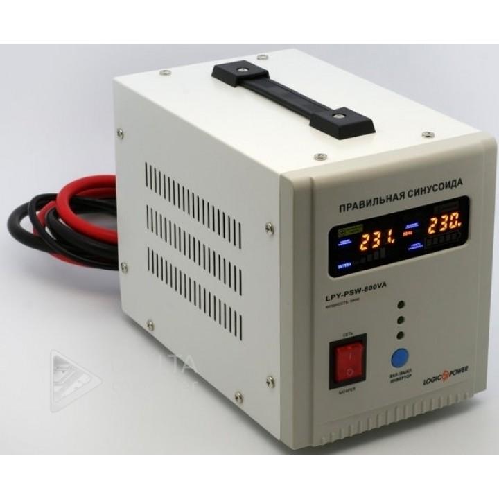 ИБП LogicPower LPY-PSW-500VA+(350Вт) 5A/10A с правильной синусоидой 12В (4152)
