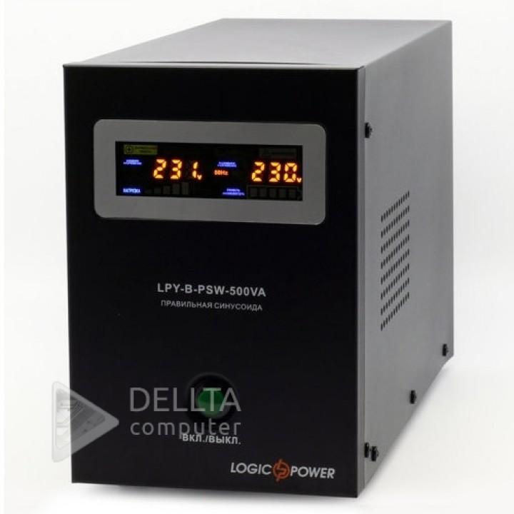 ИБП Logicpower LPY- B - PSW-500VA+  (350Вт) 5A/10A с правильной синусоидой 12В LP (4149)