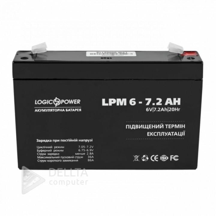 Аккумулятор AGM LPM 6-7.2 AH LP3859