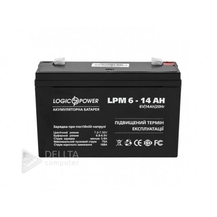 Аккумулятор AGM LPM 6-14 AH LP4160