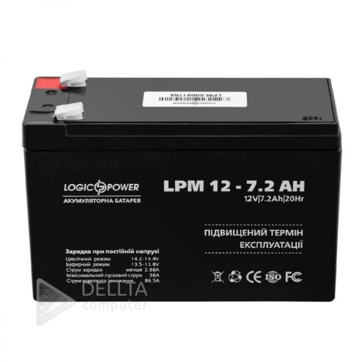 Аккумулятор AGM LPM 12 - 7,2 AH LP3863