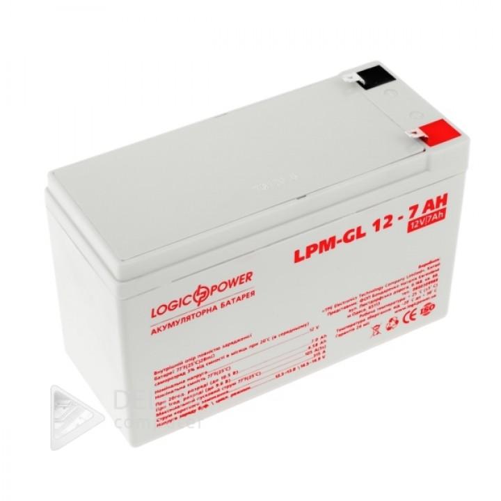 Аккумулятор гелевый LPM-GL 12 - 7 AH LP6560