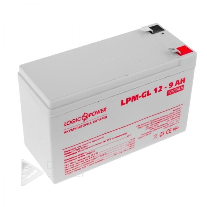 Аккумулятор гелевый LPM-GL 12 - 9 AH LP6563