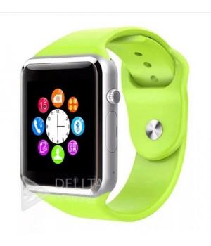 Часы-телефон Smart Watch Smart A1 зеленые