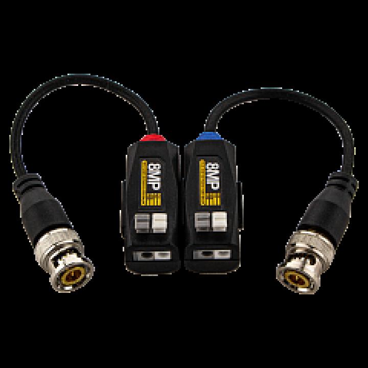 Video balun 1-канальный пасcивный приемник/передатчик GV-01 4K P-06 (блистер пара) видео балун