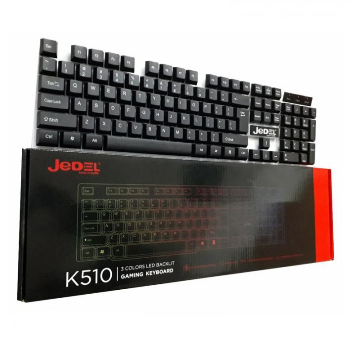 Клавиатура K510 Jedel проводная с подсветкой игровая